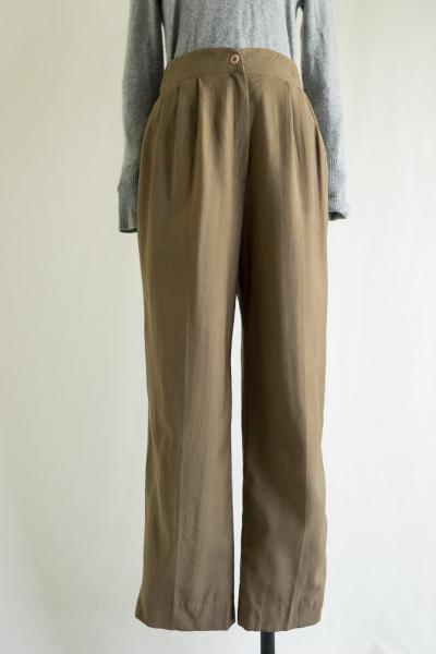 Made In Canada Khaki Tuck Wool Pants