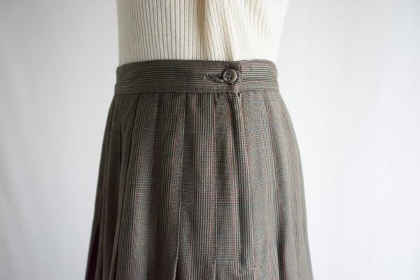 Glen check Pleats Skirt