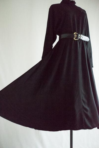 Classical Black Flare Dress
