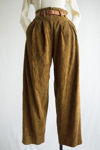 Made In Italy Brown Corduroy Pants