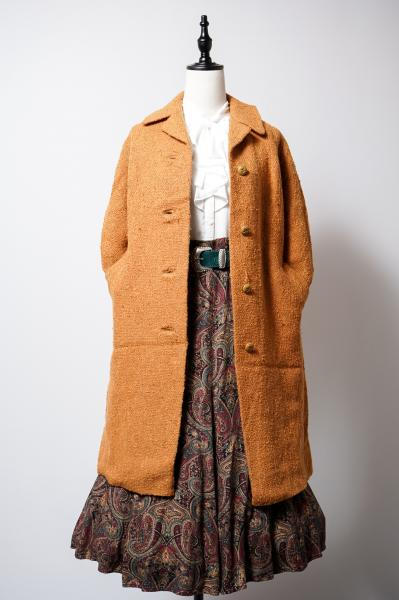 50's Nep Design Brown orange Long Coat