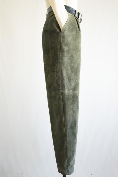 Made In Euro Moss green Suede Pants
