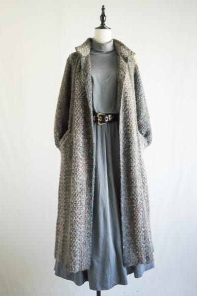 Nep style Mohair Stripe Long Coat