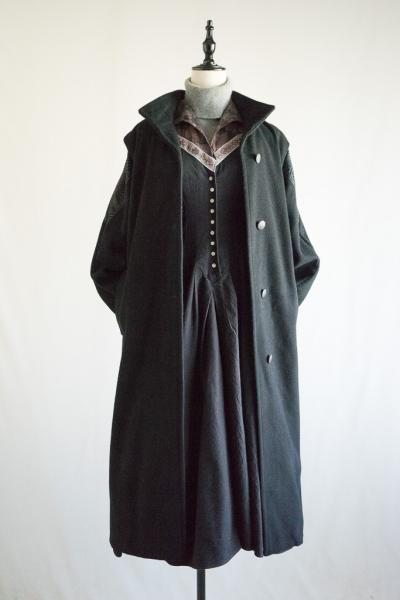 Graphic Shoulder design Black Coat