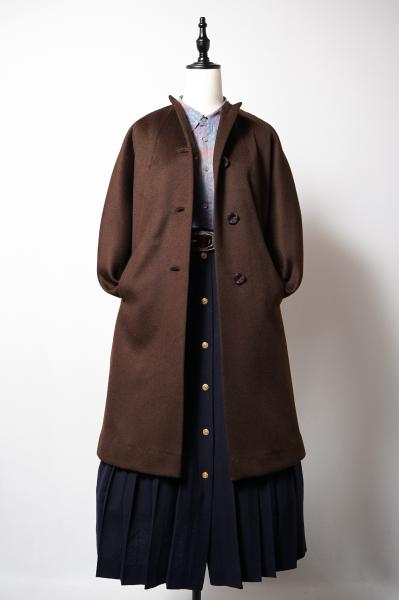 50's Dark Brown Long Coat