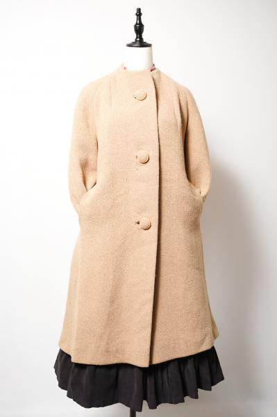 50's Single Button Classical Beige Coat