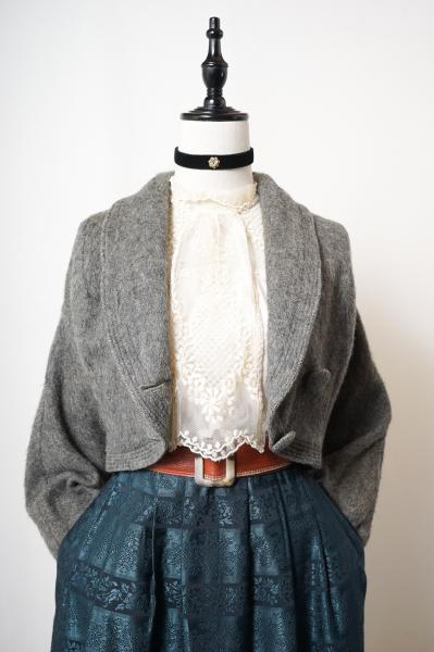 50~60's Gray Short Dolman Jacket