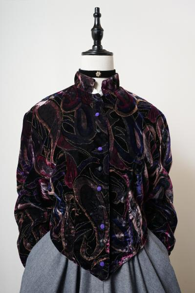 Made In Greece Multi Dark Colour Velour Jacket