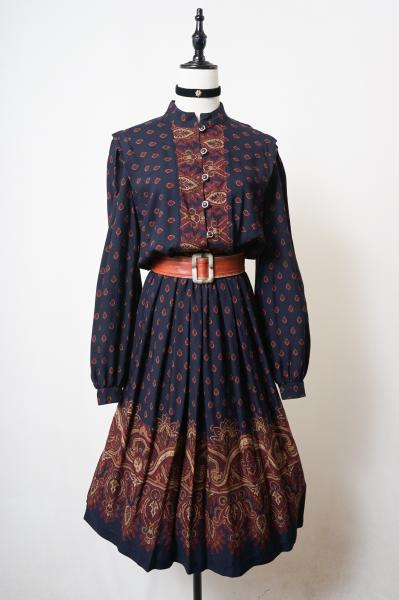 Made In Canada Multi paisley Navy Dress