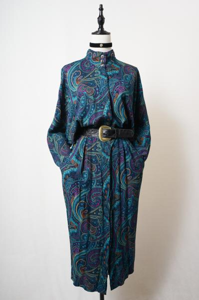 Cool-colors Paisley Dolman Dress