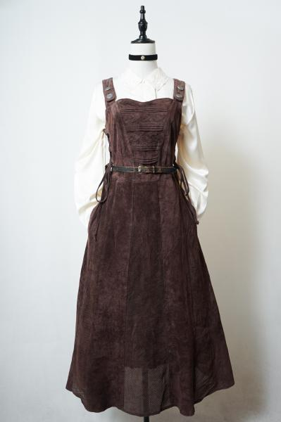 Made In Euro Dark Brown Leather Dress
