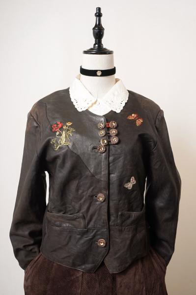 Made In Euro Butterfly×Botanical Dark Brown Jacket