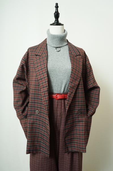 Multi Check Over Tailored Jacket