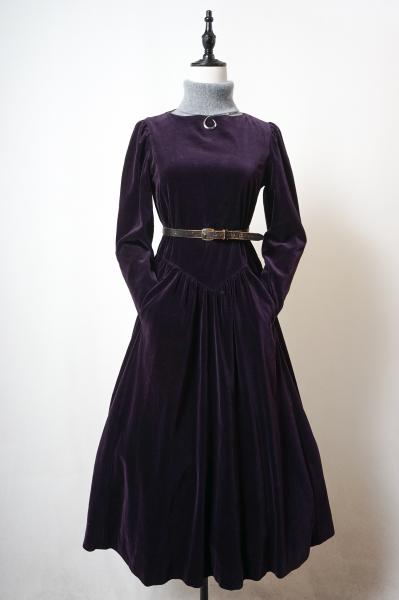 Laura ashley Purple Velour Dress