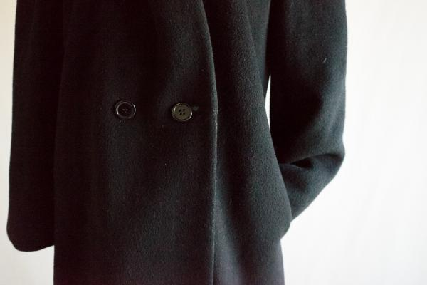 Shawl collar Black only Coat