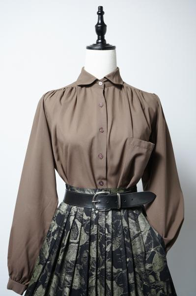 Made In Euro Smoky brown Rich Blouse