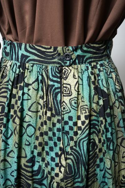 Made In W-Germany Exotic×Japanese pattern Skirt