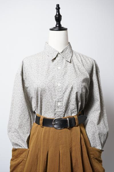 Retro-circle Monotone Blouse
