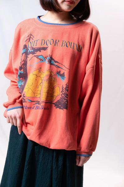 OUT DOOR BOUND Map Print Sweat