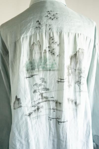 Ink painting Smokey Blouse