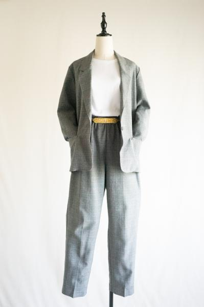 Glen check Jacket×Pants Set up