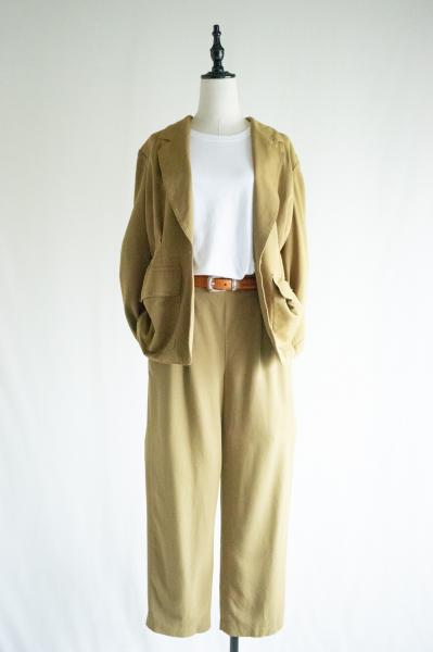 Yellow olive Jacket×Pants Set up