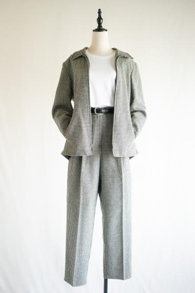 Houndstooth check Jacket×Pants Set up