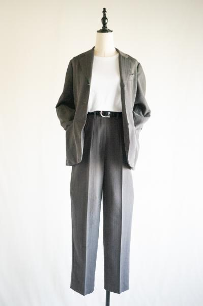 GUESS Stripe Gray Jacket×Pants Set up