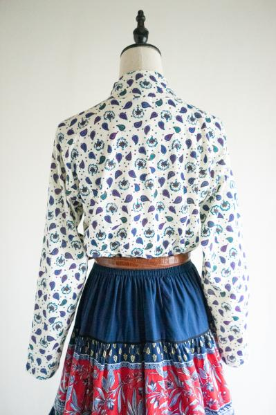 Dead Stock Retro Leaf print S size Tops