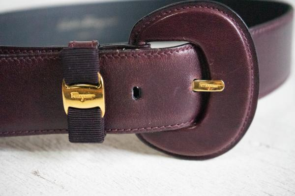Salvatore Ferragamo Italy Leather Belt