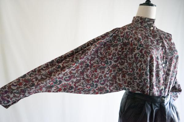 Made In France Paisley style Dolman Blouse