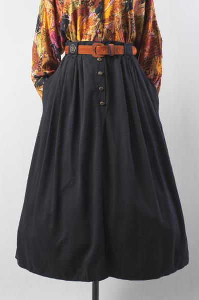 Made In Euro Black Pleats Skirt