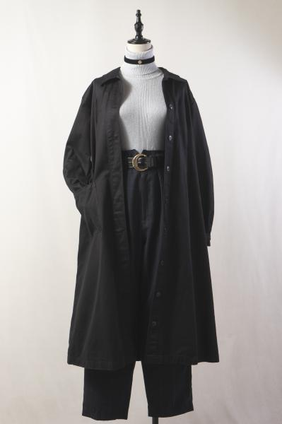 Itary Army Black Trench Coat