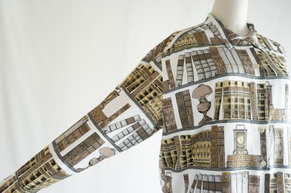 Made In Euro Bookshelf pattern Blouse