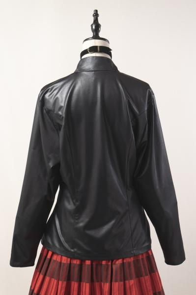 Made In Euro Jacket Style Black Double Blouse