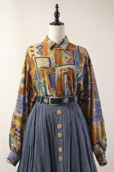Unique Art Motif Blouse