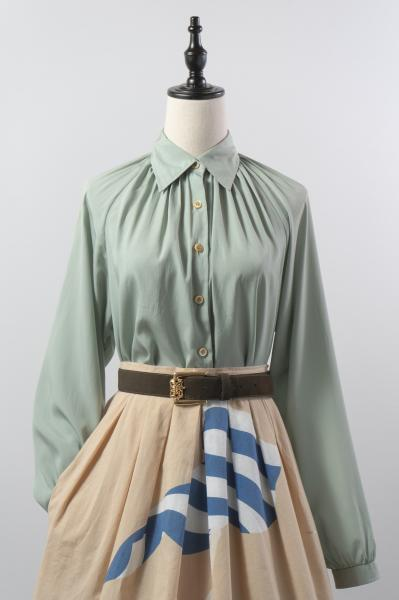 Made In France Pistachio Green Blouse