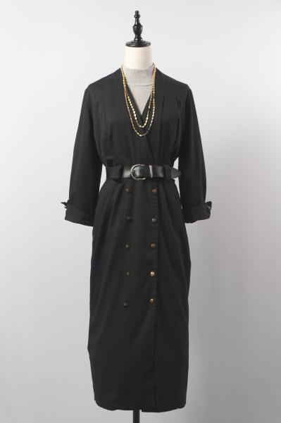 Black Cache-couer Straight Dress