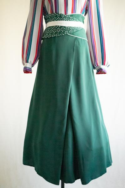 Made In Euro Waist cross Green Skirt