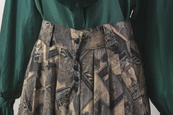Made In U.K Picture×Botanical Pattern Skirt