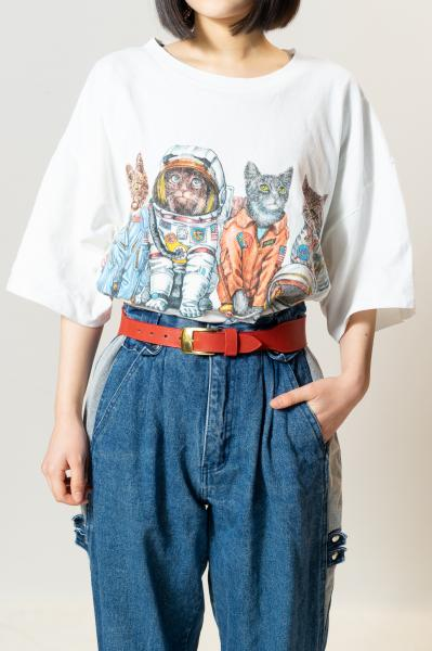 PRINTS OF TAILSキャットプリントTシャツ
