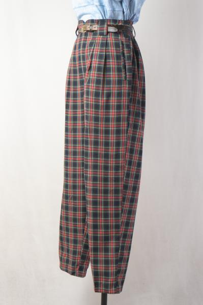 Tartan Check Straight Pants