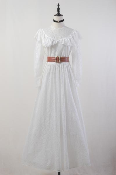 White All Lace Maxi Dress