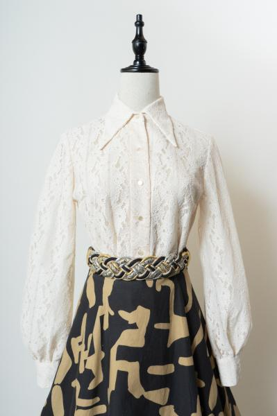 70's All Lace Ivory Blouse