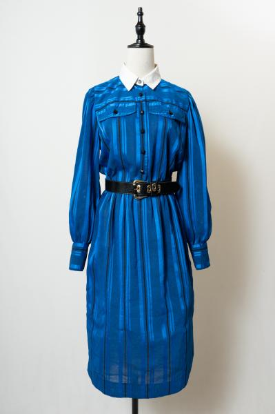 Leslie Fay Stripe Cleric Dress