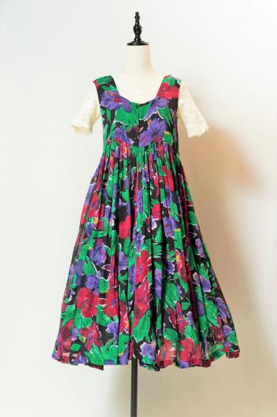 Ethnic Flower Over Dress