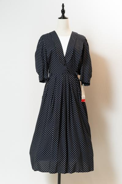 Dead Stock Layered Design Dot Dress