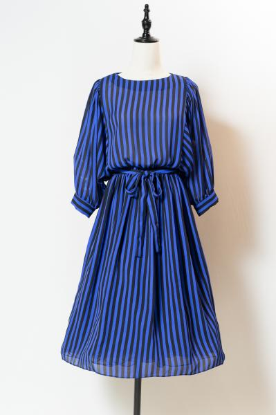Sheer Stripe Dolman Dress