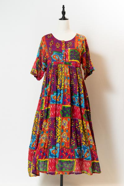 Colorful Fish Ethnic Over Dress