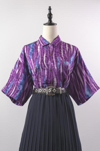 Purple Art Painting Over Blouse